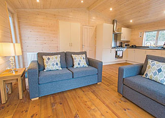Living area in Dovestone Spa Lodge ( Ref LP13997 ) Holiday Lodge at Dovestone Holiday Park in Lancashire England