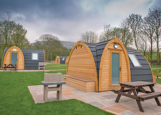 Typical Dovestone Pod ( Ref LP15353 ) Luxury Glamping Pod Accommodation at Dovestone Holiday Park Greenfield England