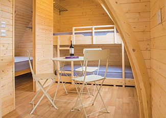 Typical Dovestone Pod Lakeside interior ( Ref LP15354 ) at Dovestone Holiday Accommodation near Greenfield Lancashire England