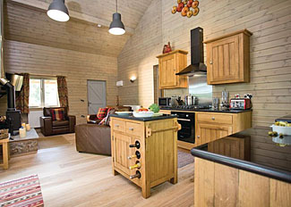Kingfisher Lodge open plan living area ( Ref LP8386 ) at Henlle Hall - Oswestry holiday lodge in Shropshire