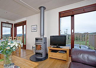 Portmile Holiday Lodges Cockwood near Dawlish Devon - Typical Silver Birch Lodge open plan living area ( Ref LP8128 )