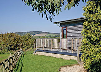 Setting of typical Silver Birch Lodge ( Ref LP8128 ) Devon holiday lodge near Cockwood Harbour England - Portmile Lodges