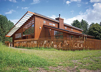 The Forest Retreat at Sherwood Forest Lodges near Edwinstowe in Nottinghamshire UK