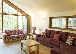 Living area in typical Silver Birch 3 Lodge ( Ref LP5586 ) at Sherwood Forest holiday park - Nottinghamshire Holiday Lodges near Edwinstowe