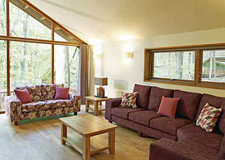 Typical interior of Silver Birch 3 Lodge ( Ref LP8065 ) Log cabin in Thetford Forest - Part of Thorpe Holiday Lodges in Norfolk
