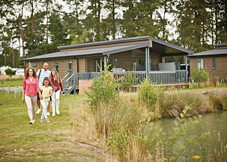 Lodge surroundings at Woodhall Country Park - Holiday accommodation in Lincolnshire