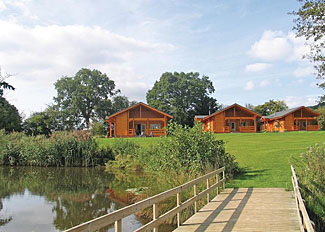 Lodge setting - Self catering at Woodside Lodges Country Park Ledbury Herefordshire England