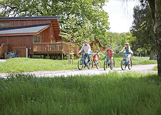 Hire a mountain bike at Forest of Dean Coleford Holiday Lodges in Gloucestershire England