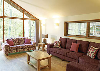 Typical Silver Birch 3 Lodge living area ( Ref LP4603) Forest of Dean Coleford Holiday Lodges in Gloucestershire England