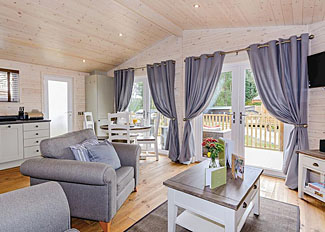 Typhoon Lodge living area ( Ref LP11939 ) Self Catering Lodge Accommodation at Marwell Lodges in Hampshire England