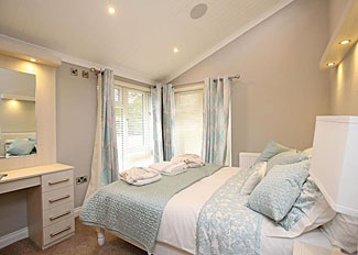 Double bedroom in Ladera Luxury Lodge 3 ( Ref LP16142 ) Congleton Holiday Lodge at Ladera Retreat in Cheshire