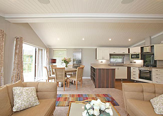 Ladera Luxury Lodge 3 open plan interior ( Ref LP16142 ) Luxury holiday accommodation in Eaton near Congleton in Cheshire England