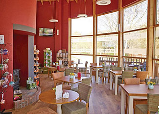 Coffee lounge at Strathyre Lodges - Forest Cabins - Self Catering Accommodation near Callander Perthshire Scotland